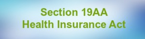 section 19aa of health insurance act 1973 medicare exemption